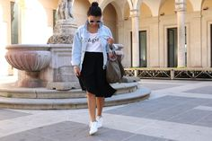 veronica-giuffrida-blogger-catania-borsa-longchamp-adidas-stan-smith-gonna-lunga