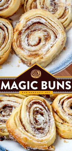Magic Buns are an easy quick bread recipe that starts with buttery, flaky rolls covered with cinnamon sugar. They're a flakier version of cinnamon rolls that would be the perfect brunch or a delicious… Cinnamon Bread, Pumpkin Bread, Cinnamon Rolls, Brunch Recipes, Breakfast Recipes, Brunch Ideas, Breakfast Ideas, Best Bread Recipe, Quick Bread Recipes