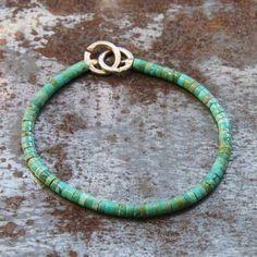 Bracelet turquoise homme par Gilbert-Gilbert pour l'Atelier des Bijoux Créateurs.