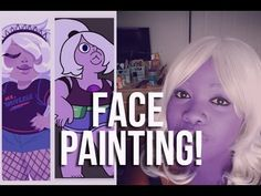 How I Do Amethyst makeup [Painting my Face] - YouTube