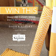 Win this 6x9 indoor/outdoor rug from @Dash and Albert Rug Company #DandAGiveaway
