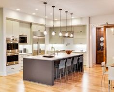 Southbury & All CT Home Construction, Kitchen Renovation, Bathroom - Design Small Modern Kitchens, Luxury Kitchens, Cool Kitchens, Modern Homes, Modern Kitchen Cabinets, Kitchen Flooring, Kitchen Interior, Kitchen Cupboard, Diy Cabinets