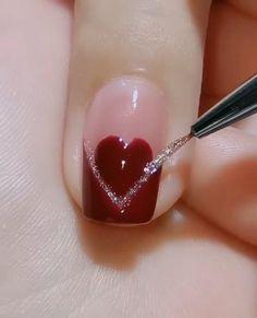 Nail Designs Easy Diy, Nail Art Designs Videos, Nail Design Video, Nail Art Videos, Nail Art Tutorials, Beginner Nail Designs, New Nail Art Design, Nail Art Hacks, Nail Art Diy