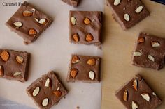 Chewy Caramel fudge squares are super easy to make. These no-bake bite sized treats are perfect for gifting to your loved ones too.