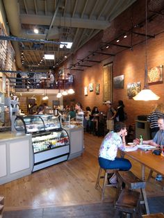 Cafe downstairs. Crema Cafe.