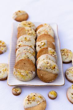 Cardamom, Orange and White Chocolate Biscuits Chocolate Dipped, White Chocolate, Orange Cookies, Chocolate Biscuits, Salted Butter, Chocolate Recipes, A Food, Food Processor Recipes