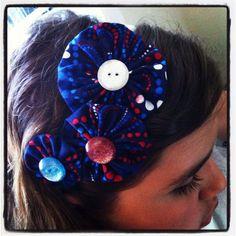 Yo-yo flower headband
