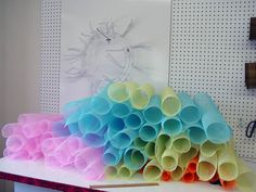 Curly Wreath tutorial using Vertical Line Deco Poly Mesh, Pencil Wreath, Beach and Summer Signs