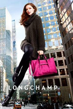 Longchamp Fall 2013 Ad Campaign I Coco Rocha photographed by Greg Kadel