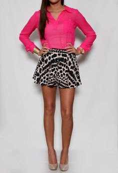 Animal Print Silk Shorts. must have! #PrivateGallery  #PGPackingList