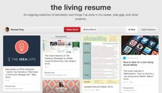 Featured on 7 Social Media Résumé Concepts That Will Make You Rethink Yours (August Career Inspiration, Learn Quran, My Career, August 2014, Online Courses, Resume Ideas, How To Get, Social Media, Concept