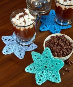 Star Coasters - free crochet pattern by Randy Cavaliere for Red Heart
