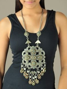 Chunky Tribal Afghani Statement Necklace