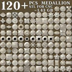 3D STL CNC Models 21pcs Icons collection for CNC Router Carving Machine Printer Relief Artcam Aspire Cut3d