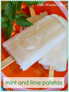 mint and lime paletas