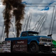 This is one nasty swap. who would take this 76 Ford for a rip? Rolling Coal, Ford Powerstroke, Midnight Blue, Diesel, Hunting, Trucks, Photoshoot, Photo And Video, Instagram