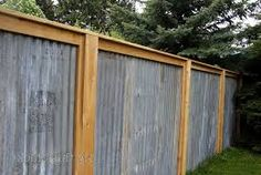 Image result for corrugated iron fencing ideas