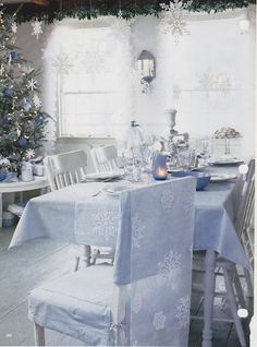 Light blue and white holiday