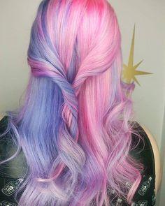 Half and half Barbie hair!! #btconeshot_creativecolor16 #btconeshot_color16