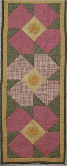 Flower Wall Hanging--Quilted