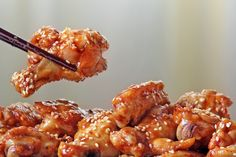 spice up Sunday football with Chili Sesame Chicken Wings
