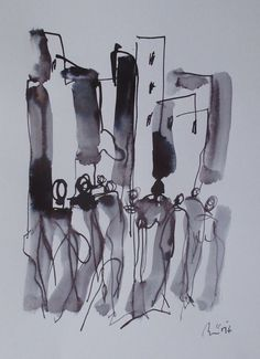 Buy people in the street  ink drawing 11,5 x 8,2 inch, Ink drawing by Max  Müller on Artfinder. Discover thousands of other original paintings, prints, sculptures and photography from independent artists.
