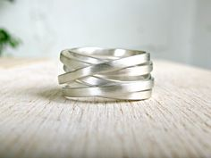 Items similar to Wide Silver Wrap Ring, Index Finger Ring, minimal wide wrap wedding ring, sterling silver 925 matte ring, minimalist wrap ring on Etsy Index Finger Rings, Gothic Wedding Rings, Family Necklace, Wide Rings, Engraved Rings, Beautiful Rings, Sterling Silver Rings, Minimal, Wraps