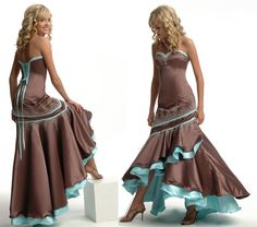 This would make a snazzily ballroom dancing dress....dunno how I feel about the brown with my skin tone though