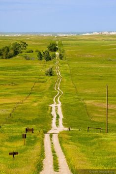 """Hee..Gotta love the cow paths they call """"roads"""" in South Dakota!"""