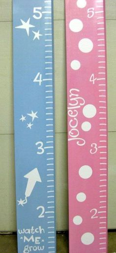 painted ruler growth chart