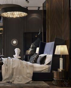 Hotel Bedroom Decor, Hotel Bedroom Design, Master Bedroom Interior, Home Room Design, Modern Bedroom, Home Interior Design, Interior Architecture, House Design, Luxurious Bedrooms