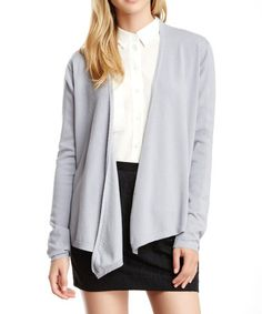 Loving this Silver Gray Open Cardigan - Women on #zulily! #zulilyfinds