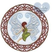 Celtic Fairy Embroidered Applique Patch