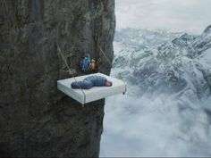 Cliff Camping, California.................... Riiiiiiiight, I don't toss in my sleep