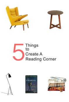 Just 5 things to create a reading corner.