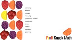 E is for Explore!: Fruit Snack Math