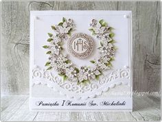 hania739 Words For Sympathy Card, First Communion Cards, Shabby Chic Cards, Handmade Decorations, Cute Cards, Birthday Cards, Diy And Crafts, Scrapbook, Confirmation