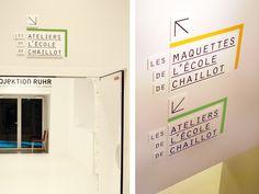 #signage #wall #signalétique #espace #typography chevalvert-Cité de l'Architecture et du patrimoine