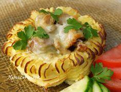 Животът може да e вкусен: Картофени гнезда с пилешко месо