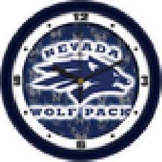 Nevada Wolfpack 12 Dimension Wall Clock