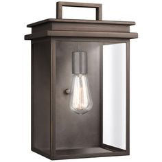 Feiss Chappman 1 Light Cast Aluminum Outdoor Wall Lantern