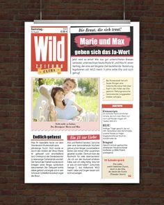 © Druckeselbst! Vorlage Wild Hochzeitszeitung