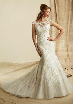 Tank Top Chapel Train Lace Trumpet Mermaid Wedding Dress Wmr0015