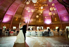 High ceilings and pink #uplighting at this #wedding #reception! #RentMyWedding #weddinginispiration