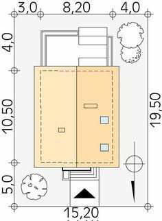 Lilia mały nowoczesny i energooszczędny dom - Jesteśmy AUTOREM - DOMY w Stylu Floor Plans, House, Home, Homes, Floor Plan Drawing, Houses, House Floor Plans