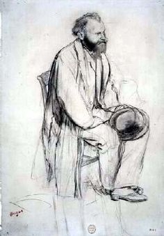 Study for a Portrait of Edouard Manet, by Edgar Degas.