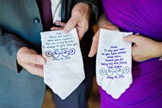 embroidered messages for parents