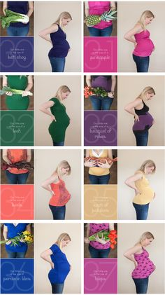 Belly Photography week by week #maternity