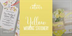 Wedding Ideas by Colour: Yellow Wedding Stationery   CHWV