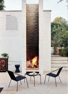 Feuerstelle im Garten design exterior HOMEMATE Interior Design Outdoor Rooms, Outdoor Gardens, Outdoor Decor, Outdoor Seating, Outdoor Ideas, Outdoor Living Spaces, Roof Gardens, Outdoor Patios, Rustic Outdoor